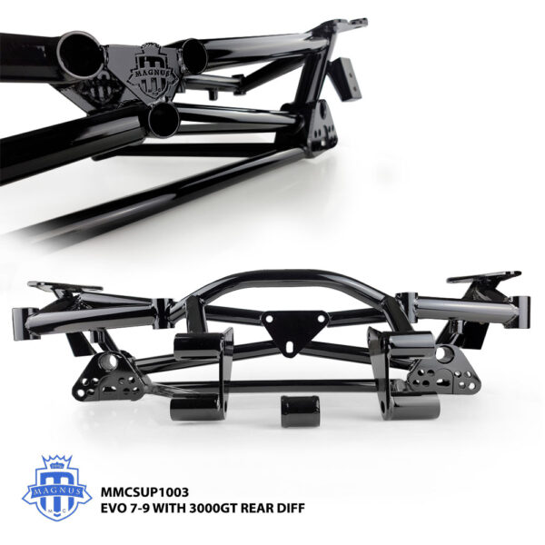 MMCSUP1003_MAGNUS LIGHTWEIGHT CHROMEMOLY REAR SUBFRAME FOR EVO 7_9 CT9A_3000gt_Diff