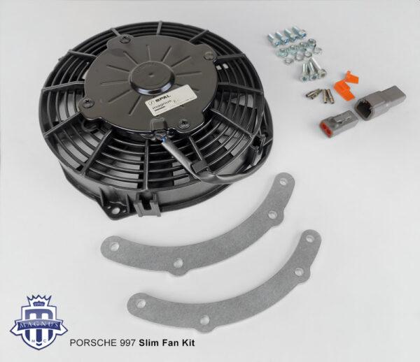 Magnus Motorsports slim fan kit for Porsche 997