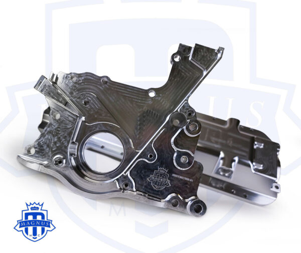 MMCENG7000-01_Magnus Motorsports 2JZ billet dry sump front cover and low mount oil pan 2