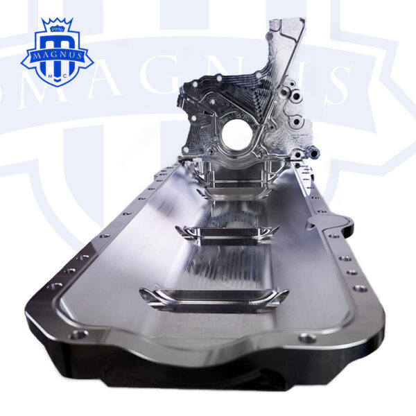 MMCENG7000-01_Magnus Motorsports 2JZ billet dry sump front cover and low mount oil pan 3