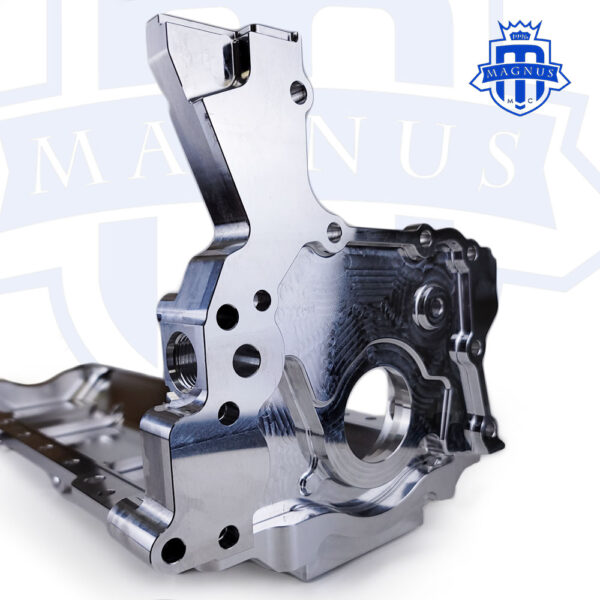 MMCENG7000-01_Magnus Motorsports 2JZ billet dry sump front cover and low mount oil pan 4