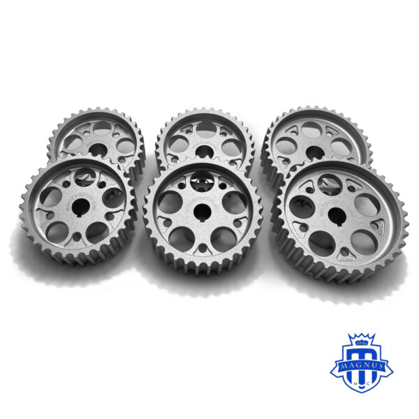 Magnus Motorsports_32_34_36 tooth HTD Pulley_High Strength_Hard Anodized