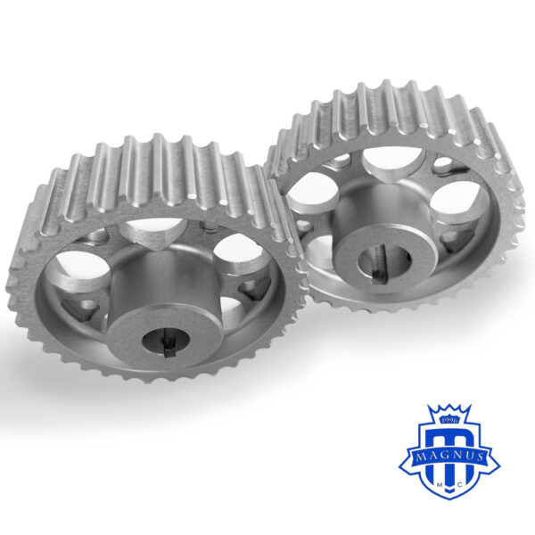 Magnus Motorsports_32_34_36 tooth HTD Pulley_High Strength_Hard Anodized_key way